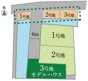 池尻3期トーブガーデン 区画図