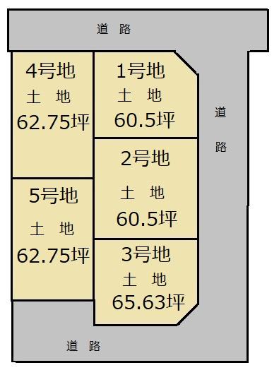 北道穂トーブガーデン 区画図